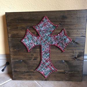 christmas cross string art